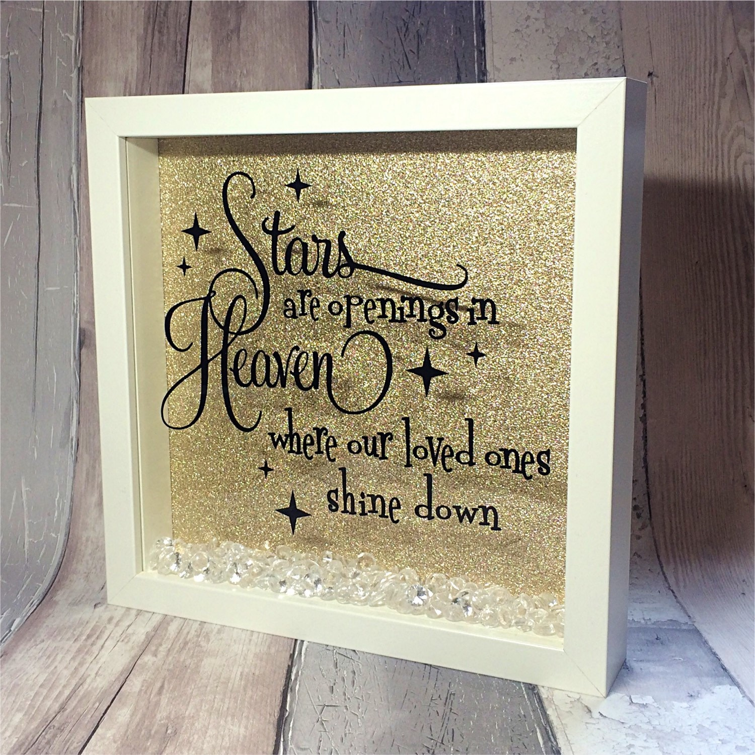 Inspirational Quote In Memory Of Memorial Box Picture