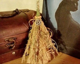 Small magick witches broom besom for cleansing decoration gift altar tool pagan wiccan ritual
