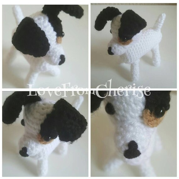 Items similar to Crochet amigurumi Jack Russell Terrier on ...