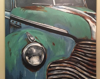 CUSTOM car painting.  close-up style car painting of car of your choice