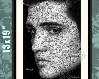 Elvis, Tribute to the King, Elvis Presley Print, Elvis Presley Poster, Elvis Print, Elvis Art, Elvis Wall Art, Elvis Presley Art,Elvis Quote