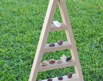 Pyramid Display - Vertical Crystal Grid for Meditation