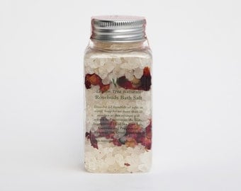 Rosebuds Bath Salt, Dead Sea Bath Salt, Peppermint Dead Sea salt