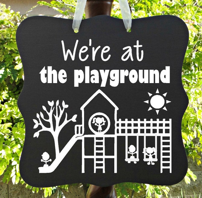 Playground Recess Sign Classroom Kids Children Child By
