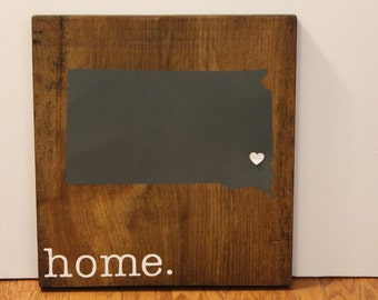 South Dakota Wood Sign, State Sign, Custom Wood Sign, Pallet Sign, Personalized Wood Sign, home decor, wall art, moving gift