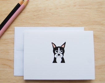 Boston Terrier Stationery, Boston Terrier Pet Notes, Pet Stationery, Pet Cards, Pet Personal Stationery, Dog Cards, Dog Card Sets