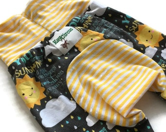 My Sunshine Monster bunz - Cloth Diaper Pants - Grow With Me Pants - Maxaloones - Baby Toddler Pants - cloth diaper - baby gift
