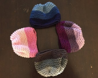 Ombré Knit Newborn Beanie