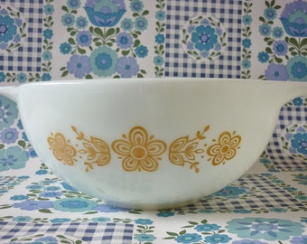 Butterfly Gold Pyrex Cinderella Bowl #443