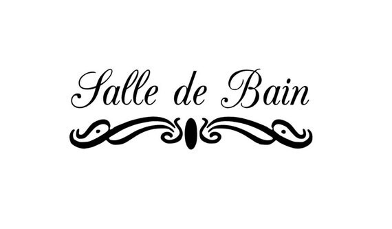 Salle de bain bathroom wall decal art sticker decor french - Sticker mural salle de bain ...