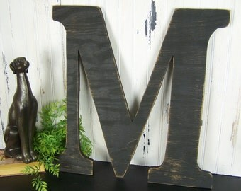Large Wooden Letter 18 inch Letter Oversized Letter Sign Rustic Kitchen Decor Wall Letters Nursery Letters Rustic Letters Shabby Chic Decor