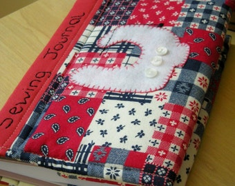 PDF Digital Sewing Pattern for Beginners - for this Reusable Quilted Journal Cover