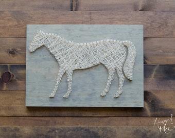 Horse Decor - String Art - Horse Decor - Western Decor - Farmhouse Decor - Farm Nursery Decor - Country Decor - Wood Wall Art - Wood Decor