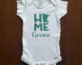 Home grown baby onesie