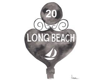 Long Beach Bus Stop Sign