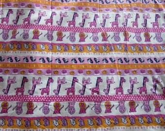 Colorful Animal Cotton Fabric by the Metre, stretchy cotton fabric, printed washable cotton fabric