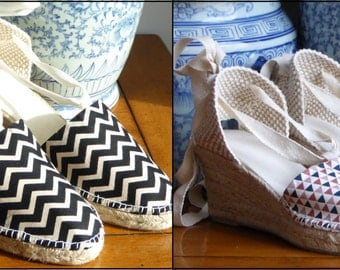 Wedge espadrilles with ribbons SPECIAL EDITION - mumishoes