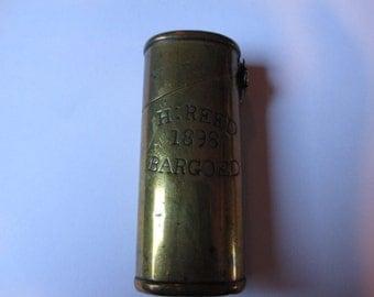 1898 Antique Brass Vesta Case