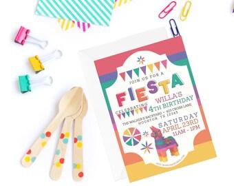 Fiesta Invitation | Fiesta Party Invitation | Colorful Invitation | Fiesta Invite | Fiesta Invitation with Photo