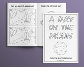 A Day on the Moon [INSTANT DOWNLOAD] - Activity Book for Kids - printable, coloring page, DIY, party favors, games, art, children, birthday