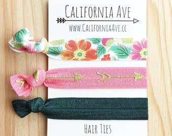 Bohemian Summer Hair Tie Set of 3