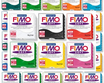 24 Fimo Soft Colours Polymer Clay sculpey best polymer clay