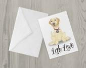 Labrador card Lab love gr...