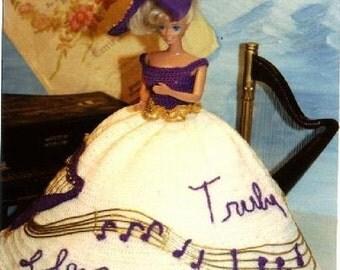 Crochet Fashion Doll Barbie Pattern- #138 I LOVE YOU TRULY