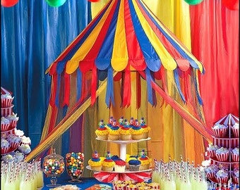 1/ Carnival Party buffet table Hanging decoration /Circus theme/ Carnival theme party/ Big Top Theme Party/ reading canopy,room decoration