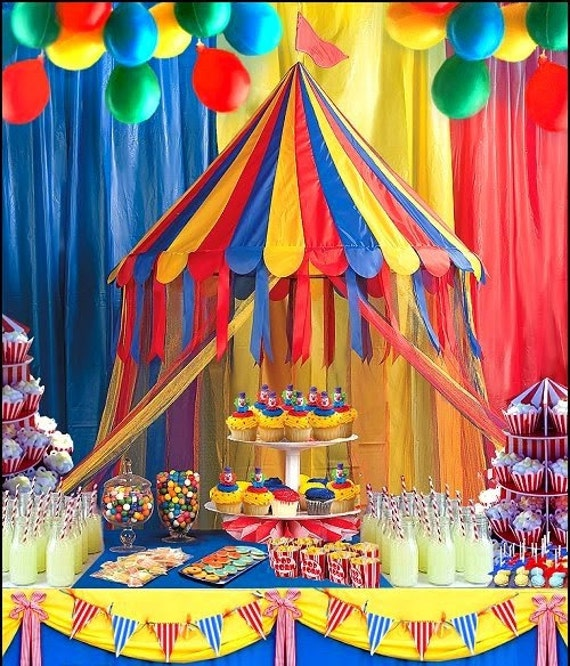 Carnival Party buffet table Hanging decoration /Circus theme ...