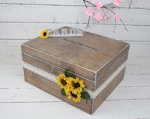 Wedding Card Box, Rustic Wedding Card Box, Rustic Card Box, Rustic Weddings, Advice Box, Card Box, Wedding Gift, Personalised Wedding Gift