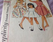 Girls' Pinafore Dress (Simplicity 4966 c. 1960s) Size 6