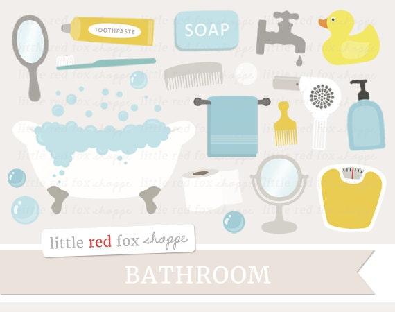 Bathroom Clipart Bath Time Clip Art Claw Foot Tub Soap Towel Mirror