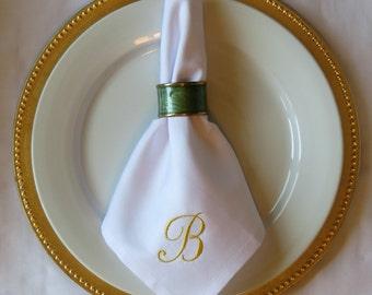 Set of 4 Personalized Cloth Napkin Monogram Monogrammed, wedding, Christmas, Birthday, Formal Place setting, custom napkins, table linens