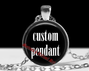 Custom pendant with your graphic, photo or symbol - personalised jewelry, custom jewelry
