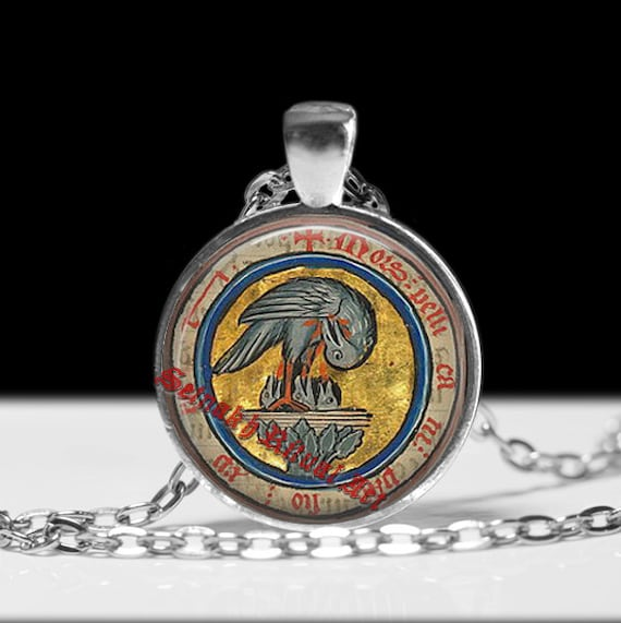 Rosicrucian pelican pendant rose and cross jewelry magic mozeypictures Image collections
