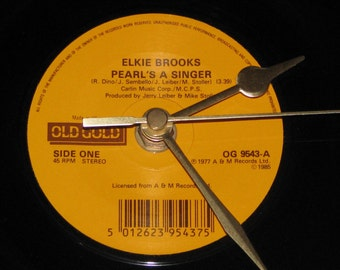 "Elkie Brooks Pearl's a singer  7"" vinyl record clock"