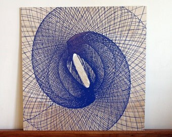 Pendulum Painting - blue on wood