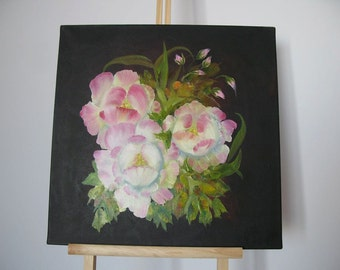Roses. Oil Painting on Canvas
