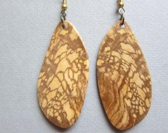Sweet Gum, Exotic Wood Earrings by ExoticWoodJewelryAnd Ecofriendly repurposed hypo allergenic