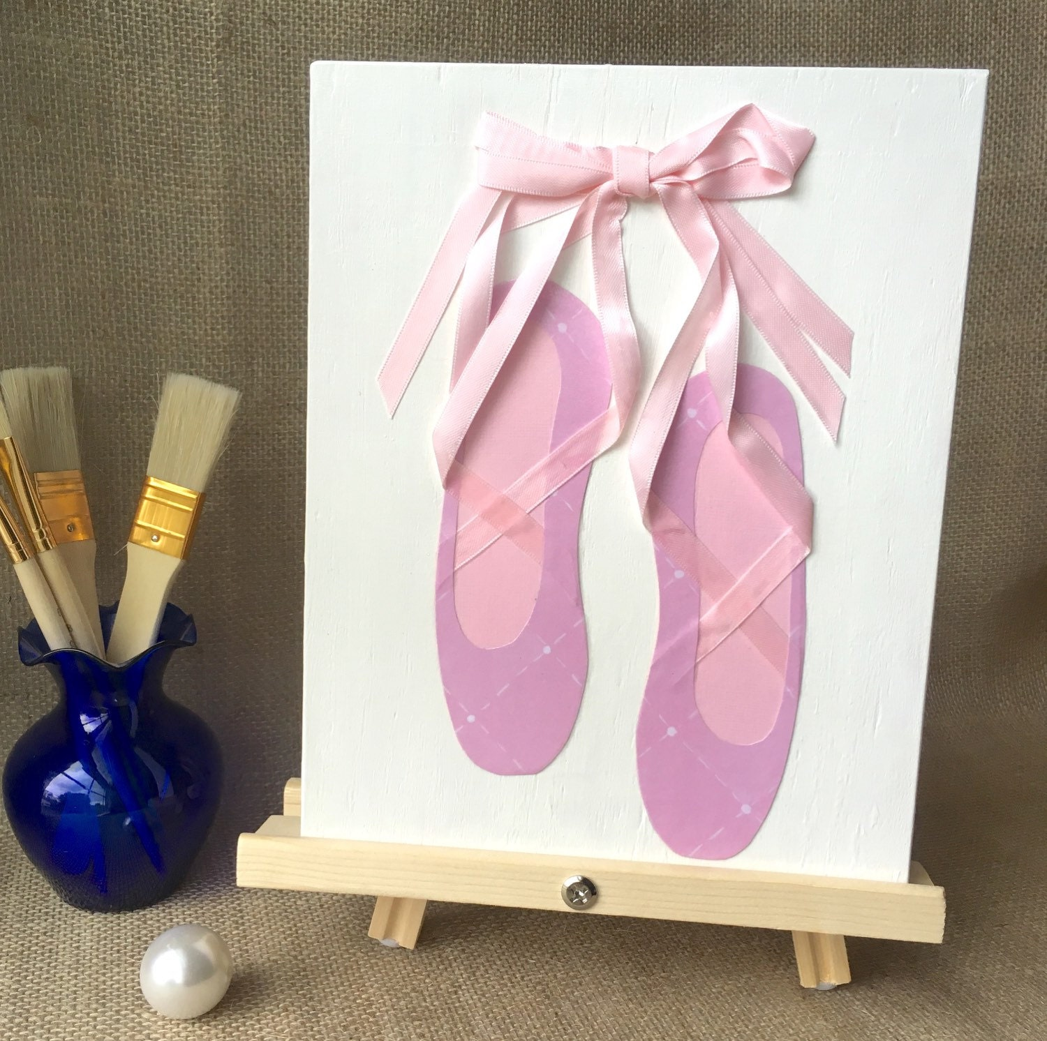 Ballet ballerina ballet shoes girl wall decor by for Ballet shoes decoration