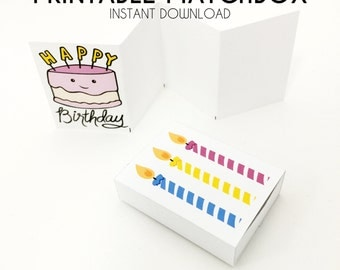 Happy Birthday Card - Diorama - Matchbox Art