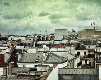 Paris Roof Tops by Artist Fiona Hueston
