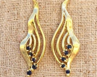 New Vintage Sapphire Earrings