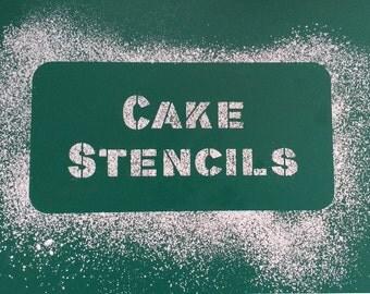 Custom Cake Stencils - bespoke cake stencil, Birthday Cake, Wedding Cake, Celebration Cake, Washable, Reusable, Dishwasher safe, Food Safe