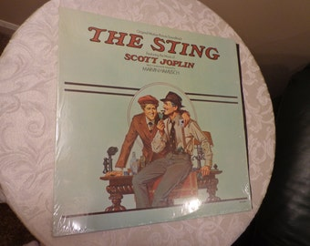 The Sting, The Original Motion Picture Soundtack on Vinyl Record 1974, Scott Joplin, Ragtime, The Entertainer, , The Glove, Little Girl
