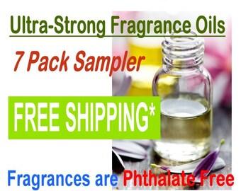 Fragrance Oil Sampler - FREE Shipping - (7) 1 oz Bottles of our Ultra-Strong Fragrance Oils