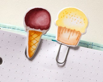 """Set A """"Sweets"""" of two Laminated Clips, Paper Clips, Bookmark"""
