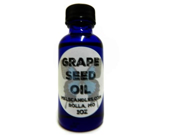 Grape Seed Oil 1oz Blue Glass Jar - Reverses Signs of Aging!