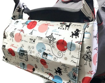 Wheelchair Bag - Stroller Caddy - Stroller Bag - Pram Caddy - Pram Bag - Messenger Diaper Bag - Convertible Diaper Bag - Large Diaper Bags